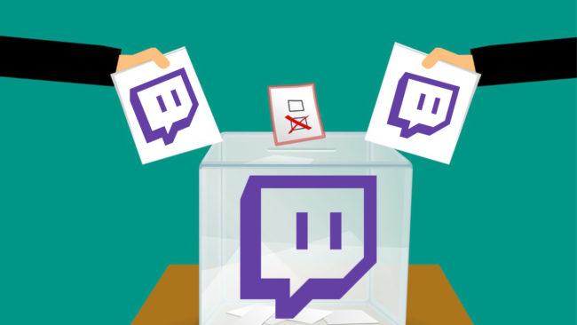Le logo de twitch pour la campagne électorale