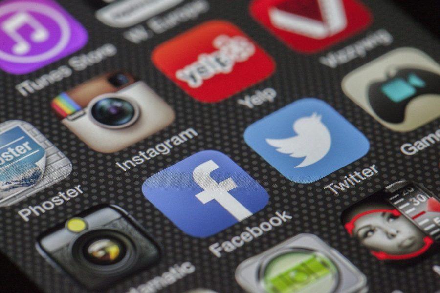 les logos des différents réseaux sociaux